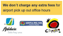 we don't charge any extra fees for airport pick up out office hours